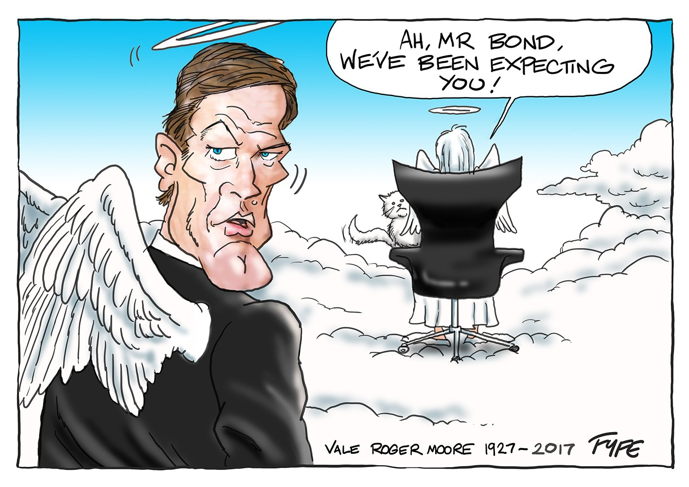 Roger Moore cartoon, Vale Roger Moore